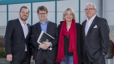 Ralf Stegner, Kathrin Wagner-Bockey, Philipp und Joachim Wilczek